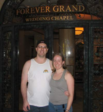 Mr. & Mrs. splorp! in front of Forever Grand