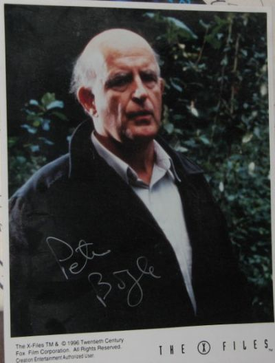 Autographed Peter Boyle as Clyde Bruckman