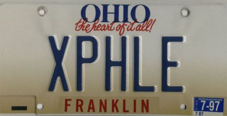 XPHLE license plate