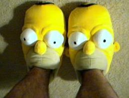 Homer Simpson slippers